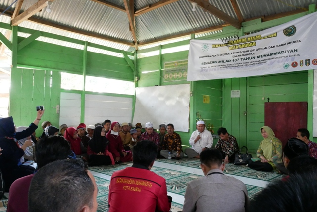 Milad 107 Tahun Muhammadiyah, UM Buton bersama PD Muhammadiyah menggelar anjangsana ke Pondok Tanfid
