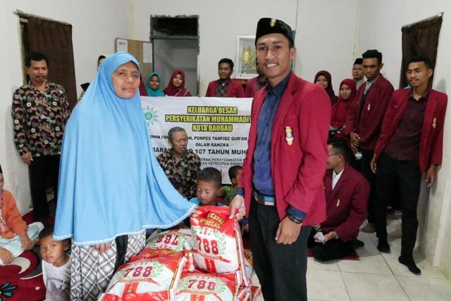 Milad 107 Tahun Muhammadiyah, anjangsana di Panti Asuhan Madin Al-Ikhlas
